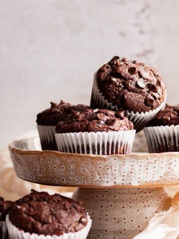 Chocolate Vegan Zucchini Muffins