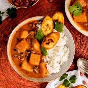 Nigerian stew in a bowl