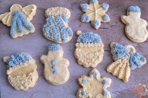 vegan christmas sugar cookies on a plate