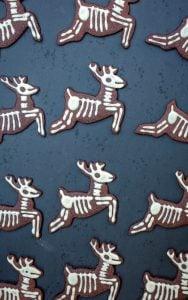 vegan christmas reindeer chocolate cookies